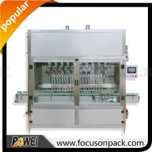 Automatic Linear 6 Heads Piston Liquid Soap Filling Machine pictures & photos