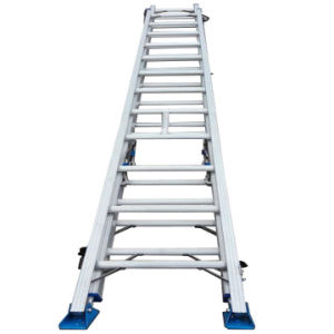 (375LBS) 10m Aluminum Alloy Single Side Grooved Rails and 3-Section Extension Ladder pictures & photos