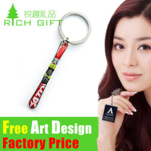 Free Design Metal Laser Logo Greece Metal/ Leather Keychain pictures & photos