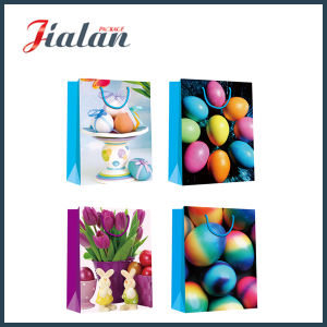 Glossy Laminated Coated Paper Easter Egg shopping Gift Paper Handbags pictures & photos