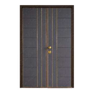 Steel-Wood Composite Security Double Leaf Door
