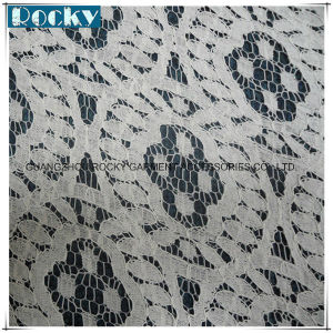 White Fabric Accessories Polyster Fabric Lace for Wedding Dress pictures & photos