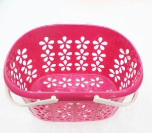 Wholesale New Laundry/Picnic Multi-Function Plastic Storage Basket with Handle pictures & photos