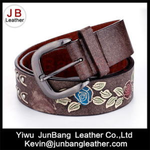 Newest Women′s Embossed Belt PU Belt -Jbe1611