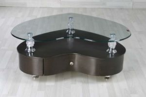 10mm Heart Shape Tempered Glass As Coffee Table