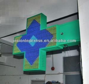 Full Color 3D Animation Pharmacy LED Cross Display