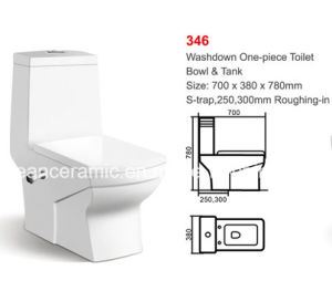 Ceramic One-Piece Toilet, Washdown Toilet, S Trap 250mm / 300mm pictures & photos