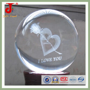 Crystal Inner Laser Engraving Ball (JD-CB-104) pictures & photos