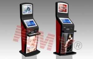 Airport Dual Screen Self Payment Information Kiosk with Cash Acceptor and Printer pictures & photos
