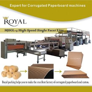 Single Facer Corrugated Cardboard Production Line pictures & photos