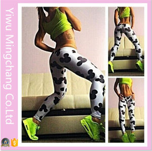 High Quality Elastic Material Printed Mickey Legging pictures & photos