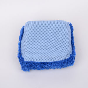 Blue, Microfiber Cleaning Sponge, Clean and Relaxed, Rapid Absorption