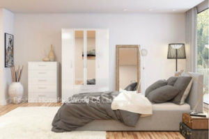 Pure White Gloss Bedroom Set (HF-EY0552) pictures & photos