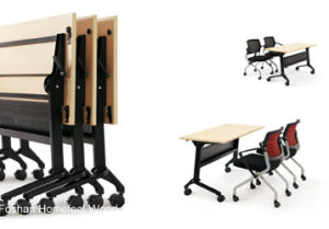 Folding School Furniture Student Desk and Chair (HF-LS711A) pictures & photos
