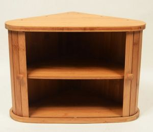 Bamboo Triangle Bread Box /Kitchen Storage Box