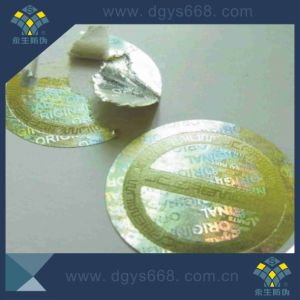 Embossing Printing Silver Laser Sticker pictures & photos