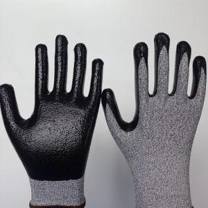 Smooth Nitrile Coated Hppe/Glass Fiber Gloves