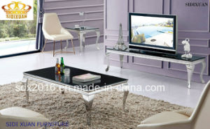 Modern Home Furniture Glass Dining End Coffee Cocktail Table pictures & photos