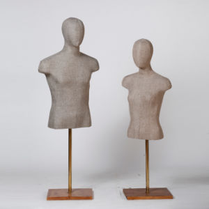 Yazi Fabric Wrapped Torso Mannequin with Wooden Base pictures & photos
