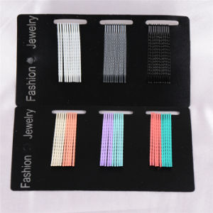 Fashion Jewelry 30 Pieces Card Packed Colorful Metal Hairpins (JE1019) pictures & photos