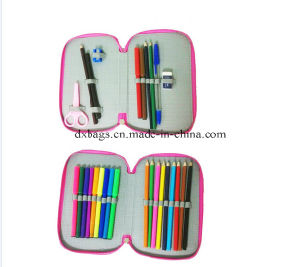 China Factory 2016 New Double Decker School Wholesale Pencil Case for Girl pictures & photos