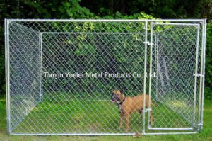 Chain Link Dog Kennel Outdoor Fence Backyard Large Pet Cage Pen Run Galvanized pictures & photos
