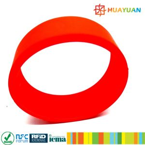 Door Lock Identity 13.56MHz MIFARE Classic 1K smart RFID silicone Wristband pictures & photos