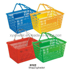 Colorful Supermarket Plastic Shopping Basket pictures & photos