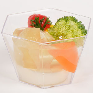 Tableware Plastic Cup Hexagonal Cup 3.3 Oz with Lid pictures & photos