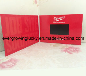 Chinese Factory Cardboard 5.0inch LCD Screen Card with Custom Video pictures & photos