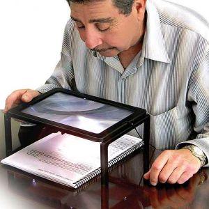 A4 Size Desktop Reading Illuminated Fresnel Lens Magnifier pictures & photos