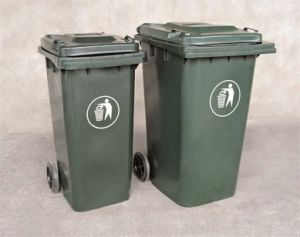 High Quality Outdoor Plastic Rubbish Bin with Wheel Dust Bin pictures & photos