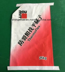 Top and Bottom Tape Sealed PP Woven Valve Bag for Putty Powder 25 Kg