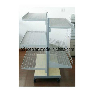 Hardware Product Practical Metal Double Side Flooring Display Rack pictures & photos