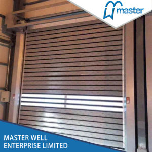 High Wind Resistance Aluminum High Speed Soft PVC Door pictures & photos