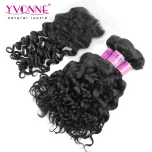 Brazilian Curly Virgin Hair Bundles with Lace Closure pictures & photos