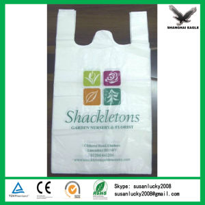 Cheap Factory Biodegradable Supermarket Plastic Bag with Printing pictures & photos