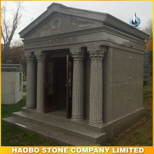 Custom Design Cheap 6 Cypts Mausoleum with Carved Statue pictures & photos