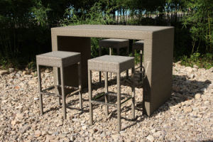 All Weather Wicker Rattan Coffee Bar Stool Outdoor Furniture Set pictures & photos