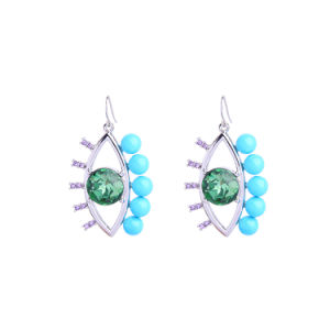 New Fashion Devil′s Eye Personal Simple Shiny Gem Female Earrings pictures & photos