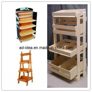 Wooded Display Stand, Flooring Display Rack, MDF Display Shelf (AD-130501) pictures & photos