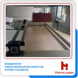 Sublimation Tissue Paper on Rotary Calander/ Roller Heat Press Machine