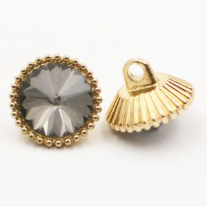 Fashion Crystal Decoration Cap Alloy Metal Shank Button pictures & photos