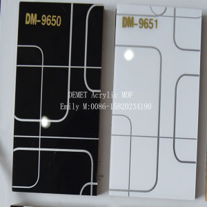 Black and White Demet Acrylic MDF (DM-9650) pictures & photos