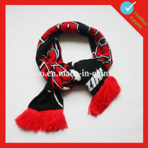 Customized Acrylic Soccer Knitted Fan Scarf pictures & photos