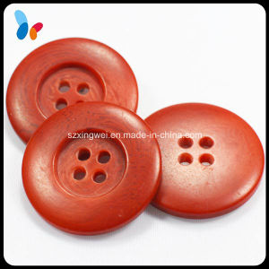 Red Four Holes Nature Resin Coat Button pictures & photos