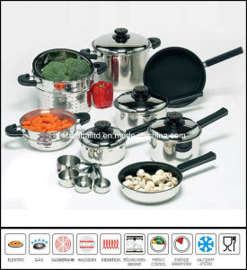 T304 Stainless Steel Cookware Cooking Ware 17piece Kitchenware Set pictures & photos