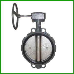 Resilient Wafer Butterfly Valve with Gear pictures & photos