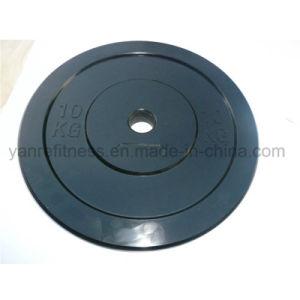 Gym Accessories Black Rubber Bumper Plates pictures & photos