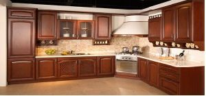 American Style Solid Wood Kitchen Cabinet (cherry 1) pictures & photos